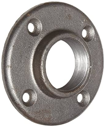 Anvil 8700163952 malleable iron pipe fitting floor for 1 in black malleable iron threaded floor flange