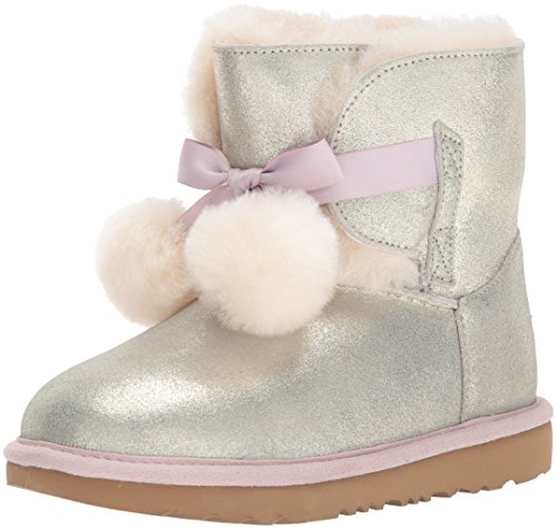 UGG Girls K Gita Metallic Pull-on Boot, Gold,