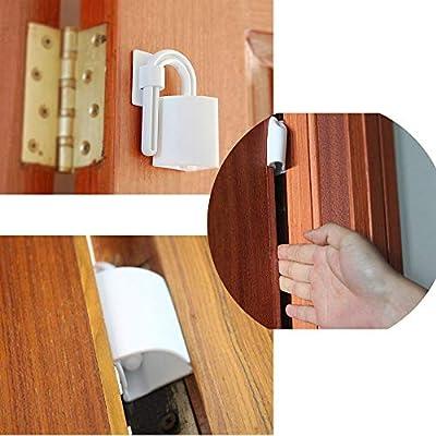 Neoteck 4 Piezas Cerraduras de la Ventana//Puerta para Ni/ños//Beb/é Restrictor de Ventana Corrediza de Cerradura de Seguridad con Cerradura y Llave para Familia y Escuela
