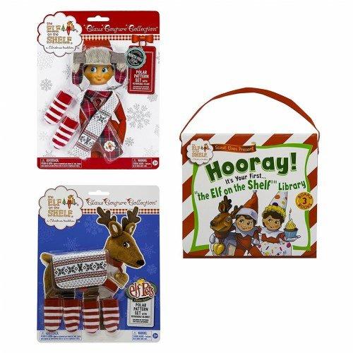 [Elf on the Shelf(R) Polar Pattern & Book Set] (Elf On Shelf Costumes)