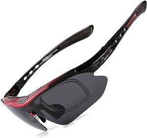 Sireck Polarized Cycling Sunglasses Sports Fishing Bike Bicycle Glasses Eyewear
