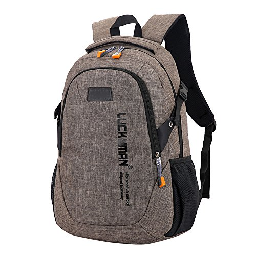Brown bags Backpacks Travel Backpack laptop bag Unisex Black Kanpola student Designer canvas bag xa7WWAq