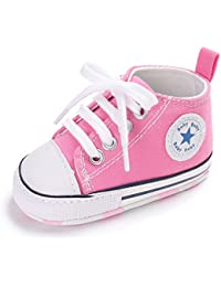 Baby Girls Boys Canvas Shoes Soft Sole Toddler First Walker Infant High-Top  Ankle Sneakers 91b641a0e01e