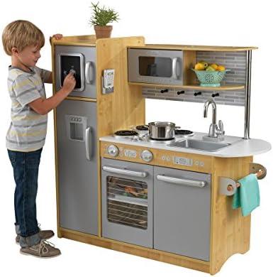 KidKraft 53298 Cocina de juguete Uptown de maderapara niños con teléfono de juguete incluido - Color natural