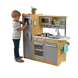 KidKraft 53298 Uptown Natural Kitchen, 43.00 x 17.75 x 41.00 Inches