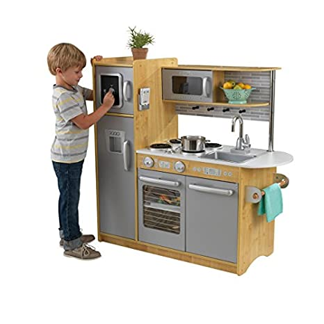 Buy Kid Kraft Uptown Kitchen Play Kitchen Set Natural Online At