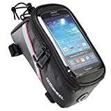 GAOYUANMAOYI Bike Frame Bag-Bicycle Top Tube Pouch Cellphone Holder-Touch Screen Front Phone Frame Bag Holder ≤5.7 inches