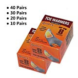 WORLD-BIO Toe Foot Warmers Disposable with Adhesive Back, Air Activated Heating Patch Long Last for 8 Hours