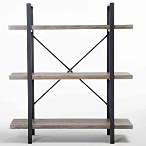 D'sign Lab Book Shelf, Console Table, Modern Industrial Design - 3 Tier