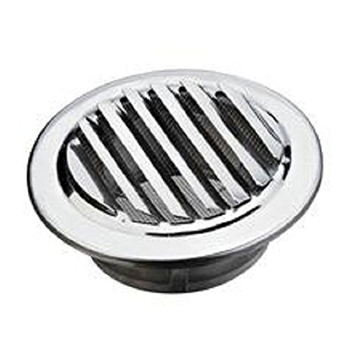 less Steel Circular Ventilation Grille Air Vent Grille Cover Duct Extractor fan for Bathroom Office Kitchen Ventilation (80mm/100mm/120mm for Chosen)(80mm) ()