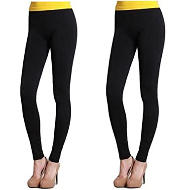 Nikibiki Long Smooth Leggings NB5100 (One Size, 2 Pack: Black ...