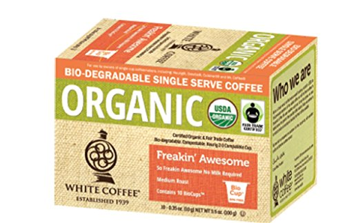 Virginal Coffee Organic Single Serve Coffee, Freaking Awesome, 10 Count (Pack of 4)