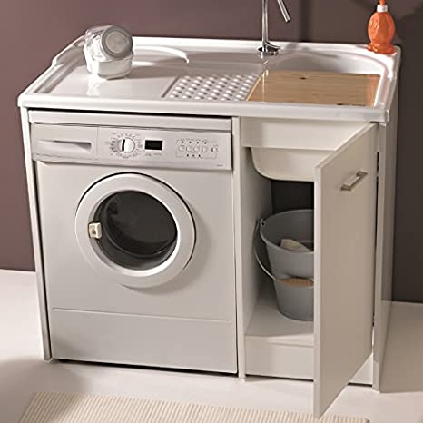 lavatoi colavene domestica Lavatoio Mobile lavapanni para introducir Lavadora 106 x 60 dl1061b: Amazon.es: Hogar