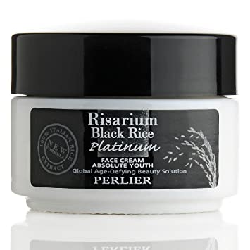 Perlier Risarium Black Rice Platinum Absolute Youth Face Cream with SPF 15  1... Collagen Beauty Cream Pear Scent - 4 oz. by Mason Natural (pack of 1)