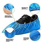 EzLife-Copriscarpe-Monouso-Antiscivolo-100-Pezzi-Impermeabile-Copriscarpe-in-Plastica-CPE-Extra-Resistente-Scarpa-Monouso-Adatto-per-la-Maggior-Parte