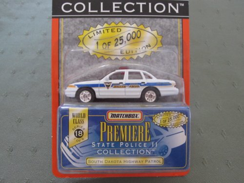 (South Dakota Highway Patrol Matchbox Premiere Series 18 State Police Collection)