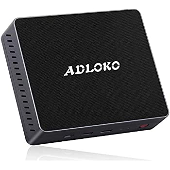Mini pc - Gemini Lake, ADLOKO GE41 Windows10 Mini PC, Desktop Computer, Intel Celeron N4100 Up to 2.4Ghz, 4GB DDR4/64GB, Support Dual HDMI ...