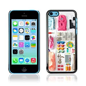 Designer Depo Hard Protection Case for Apple iPhone 5C / Cool Spring Break Outfit