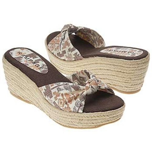 Oliviah Women's Shoes Rampage Brown Wedge 5TH6qf