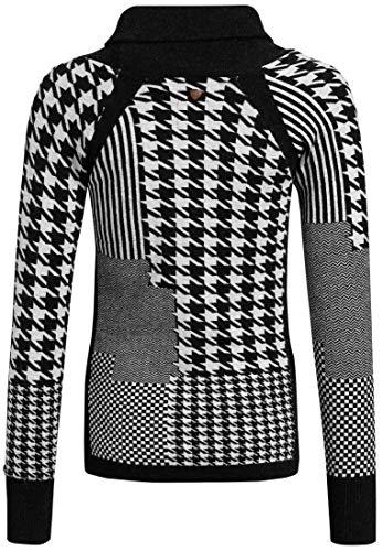 Lunga Nero Manica Khujo bianco Maglione Donna 6IE5nSqOwx