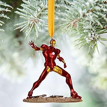 Amazon.com: Disney 2015 Sketchbook Iron Man Ornament Christmas ...