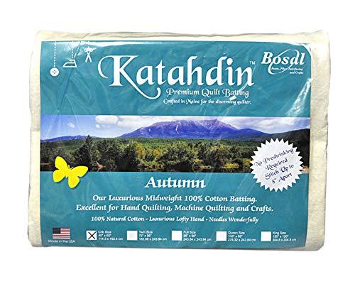 Katahdin Premium 100% Cotton Batting - Autumn 4oz - 45in x 60in