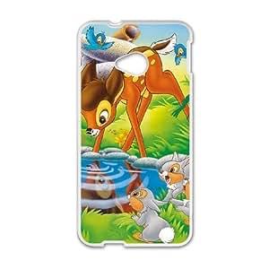 HTC One M7 phone case White Bambi QWE0516373