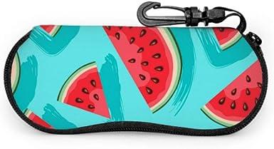 N\A Caja de anteojos de sandía de fruta dulce verde roja Estuche de gafas de moda Estuche de cremallera de neopreno portátil ligero Estuche suave para anteojos: Amazon.es: Ropa y accesorios