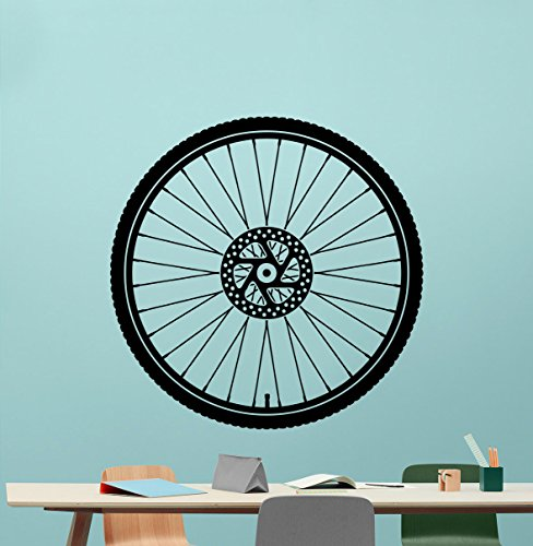 Bicycle Wheel Wall Decal Bike Wheel Road Bicycling Vinyl Sticker Track Drive Route Garage Wall Decor Cool Wall Art Kids Teen Girl Boy Room Wall Design Modern Bedroom Wall Decor Mural 20thn -  CarolGreyDecals
