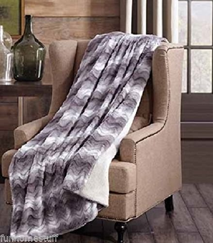 Regal Comfort Faux Fur Luxury Plush Sherpa Throw 50 in x 70 in (Raging ()
