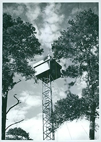 Vintage photo of Twenty Air Surveillance Towers of This New Type Will Be Built