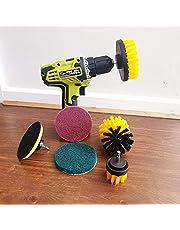 ZINGOORIA | 6 Pcs Drill Brush Set for Cleaning | Grout Cleaning Brush | Carpet Brush | Tyre Brush | Car Cleaning Kit | Power Scrubber | Car Detailing Brush | Wheel Brush | Cleaning Brush