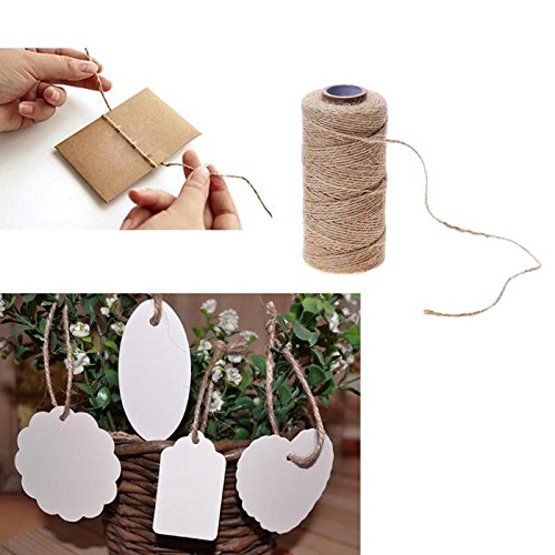 DOPTHOI - 100M Natural Jute Handmade Woven Hemp Rope Gift Box Po Frame String Rope Craft Wedding Tags Wraps Decoration Ornament
