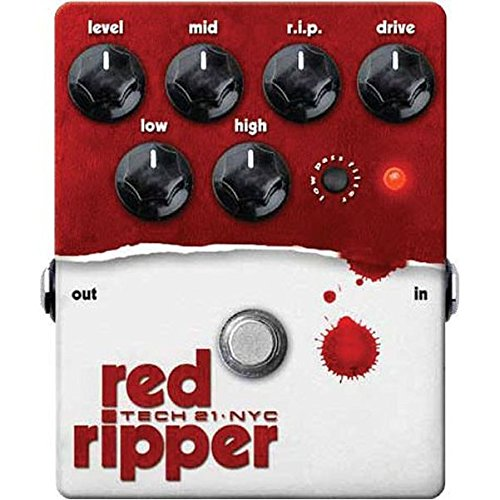Tech 21 RIP Red Ripper Bass Distortion Effect Pedal (Drive Rip)