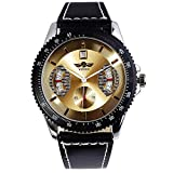 Fashion New Men's Steampunk Style Luxury Sport Automatic Mechanical Watch Odm 51 - Golden