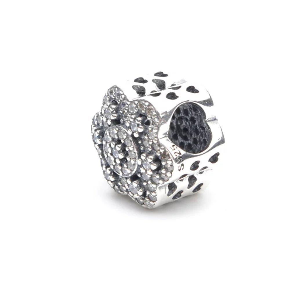 6e424a50f156 Charm de flor de hielo Stonebeads, plata de ley 925, compatible con ...