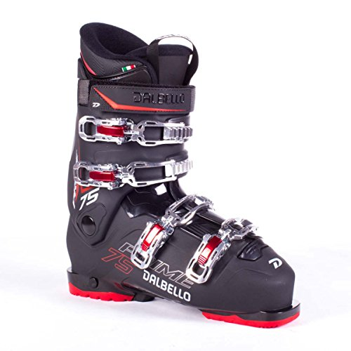 (Dalbello Prime 75 Men's Ski Boots Black/Black/Red 29.5)
