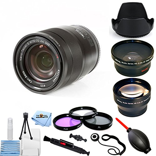 ソニー SEL1670Z Vario-Tessar T E 16-70mm F4 ZA OSS PRO バンドル 望遠レンズと広角レンズ、チューリップフードレンズ、フィルターキットなど [国際版]   B07MKX26GK
