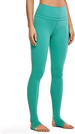 CRZ YOGA Women's Naked Feeling High Waist Stirrup Tights Yoga Sports Leggings- 28 Inches