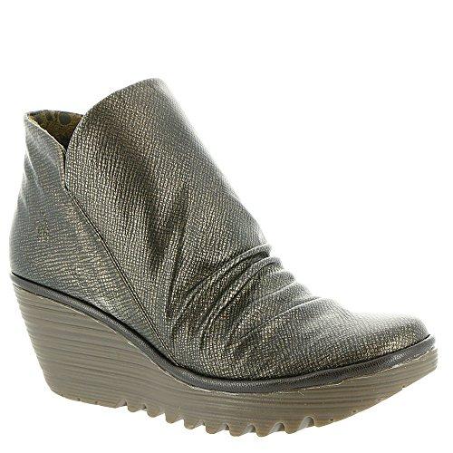 FLY London Damen Yip Boot Bronze / Schokolade Franz / Mousse
