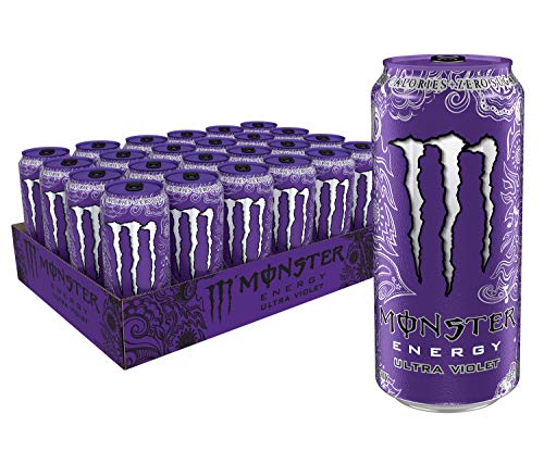 (Monster Energy Ultra Violet, Sugar Free Energy Drink, 16 Ounce (Pack of 24))