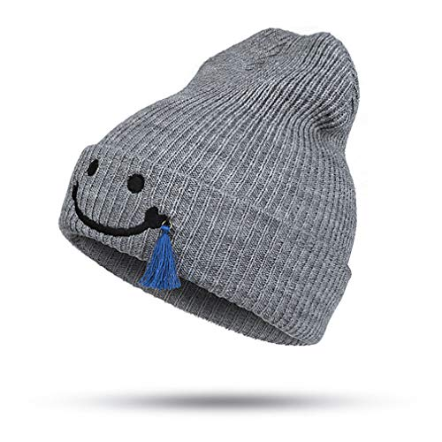 Cotton Winter Baby Hat Beanies Knitted Hat Grey