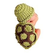 Gloous Baby Girl Boy Newborn Turtle Knit Crochet Outfit Photo Props