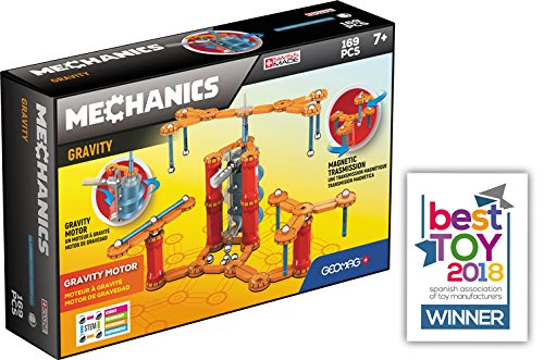 - Geomag - MECHANICS GRAVITY MOTOR - 168-Piece Building Set with Magnetic Motion, Certified STEM Marble Run Construction Toy for Ages 7 and Up