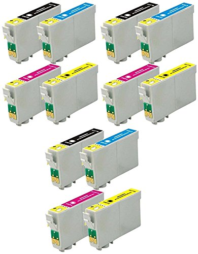 12 Pack Elite Supplies ® Remanufactured Inkjet Cartridge Replacement for #69 T069 T0691, Epson T069120 T069220 T069320 T069420 Works With Epson Stylus C120, Stylus CX5000, Stylus CX6000, Stylus CX7000F, Stylus CX7400, Stylus CX7450, Stylus CX8400, Stylus