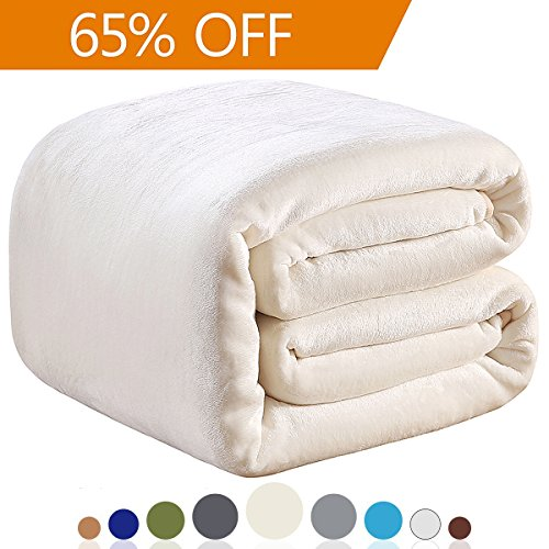 Richave 350GSM Fleece Blankets Queen Size for The Bed Warm Sofa Blanket 90
