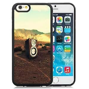 Fashionable Custom Designed iPhone 6 4.7 Inch TPU Phone Case With Speaker In Desert_Black Phone Case
