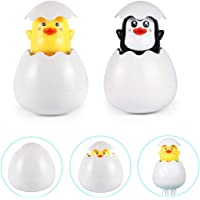 EBSTUNS Baby Bath Toys, 2 Pack Floating Baby Bath Squirt Toys Duck and Penguin, Bathroom Pool Bath Time for Kids Toddler Baby Boys Girls