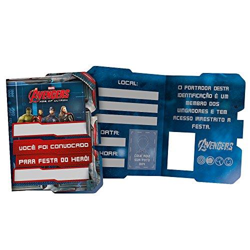 Regina Convite Pequeno R68 Avengers 2, 8 Unidades