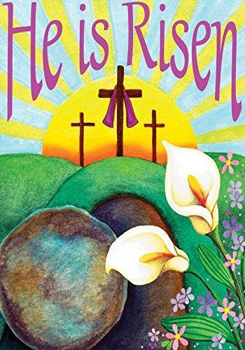 He Is Risen Easter Garden Flag Religious Jesus 12.5